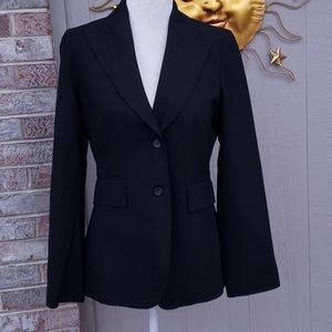 Banana Republic Tailored Blazer Stretch Black EUC